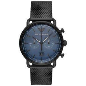 New Emporio Armani Men's Chronograph Black